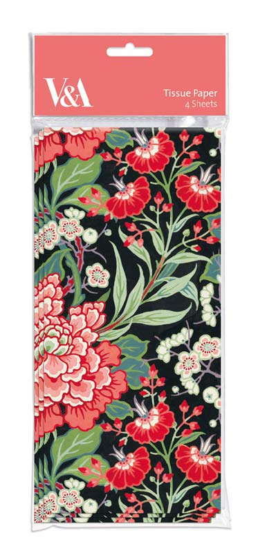 V&A Peony & Prunus - Tissue Pape gift wrappings