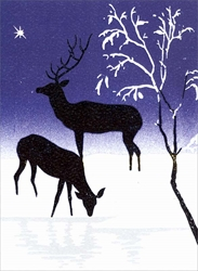 Deer in Snow - Cello Packs Christmas