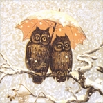 Owls in the Snow - Christmas Card Christmas