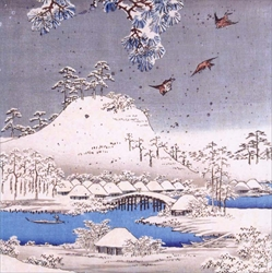 Snow Scene in the Garden of Daimyo - Cello Packs Christmas