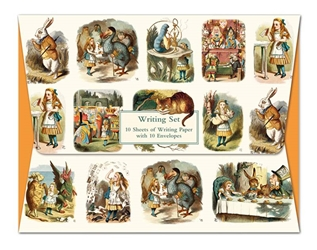 British Library Alice In Wonderland - Writing Set notecards and stationery