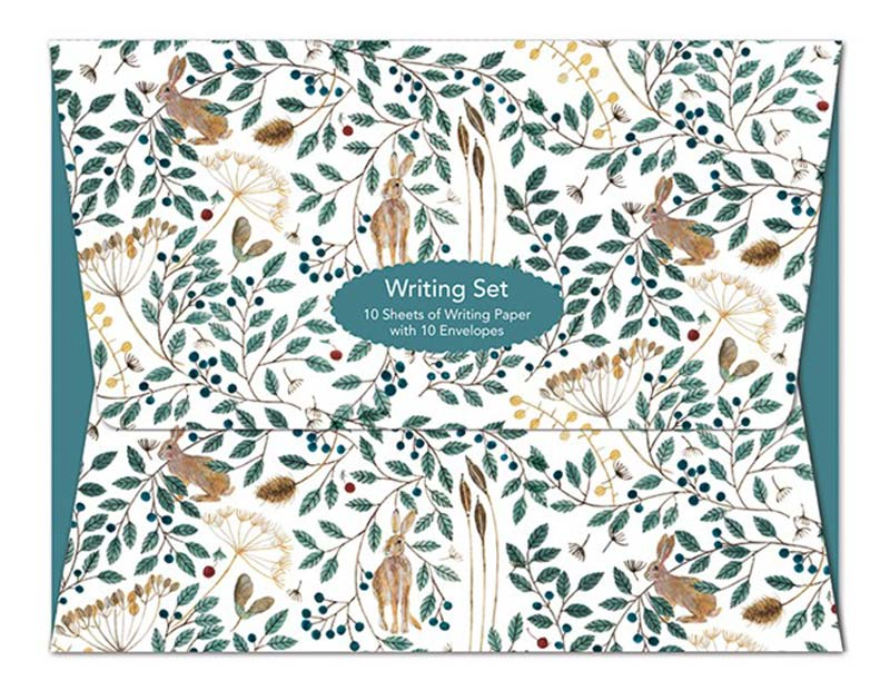 Writing Set - Dee Hardwicke, Hares & Berries notecards and stationery