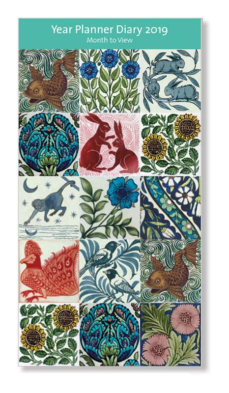 V&A De Morgan Tiles 2019 Year Planner