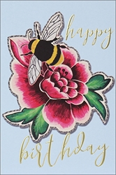 Bee with Flower - Birthday Card