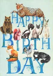 Birthday Animals Card Birthday