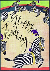 The Roundabout Zebras - Birthday Card