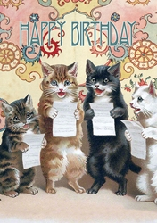 Cats Sing - Birthday Card