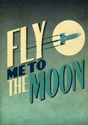 Fly Me to the Moon - Blank Card