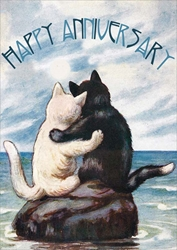 Cats / Moon - Anniversary Card