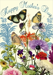 Butterflies & Flowers - Mothers Day Card