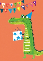 Alligator - Birthday Card
