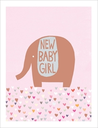Girl Copper Elephant - Baby Card Baby