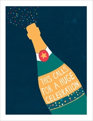 Champagne Celebration - Congratulations Card Congratulations