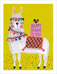 Llama - Birthday Card Birthday