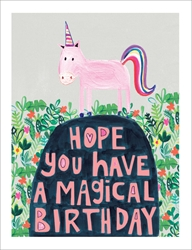 Unicorn - Birthday Card Birthday