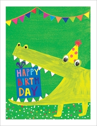 Alligator - Birthday Card Birthday
