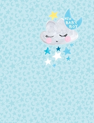 Blue Boy Cloud - Baby Card