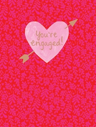 Pink Heart - Engagement Card