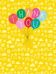 Balloons - Thank You Card