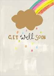 Cloud with Rainbow - Get Well Card Get Well