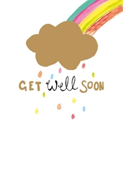 Rainbow and Cloud - Get Well Card