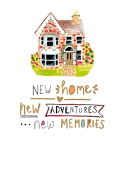 Adventures and Memories - New Home Card