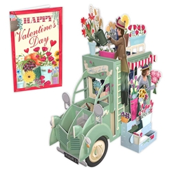 3D Truck - Valentines Day Card