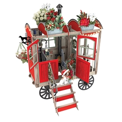 3D Christmas Cart - Christmas Card Christmas
