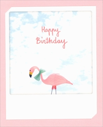 Flamingo - Birthday Card