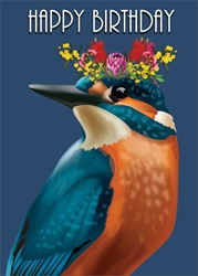 Kingfisher - Birthday Card Birthday