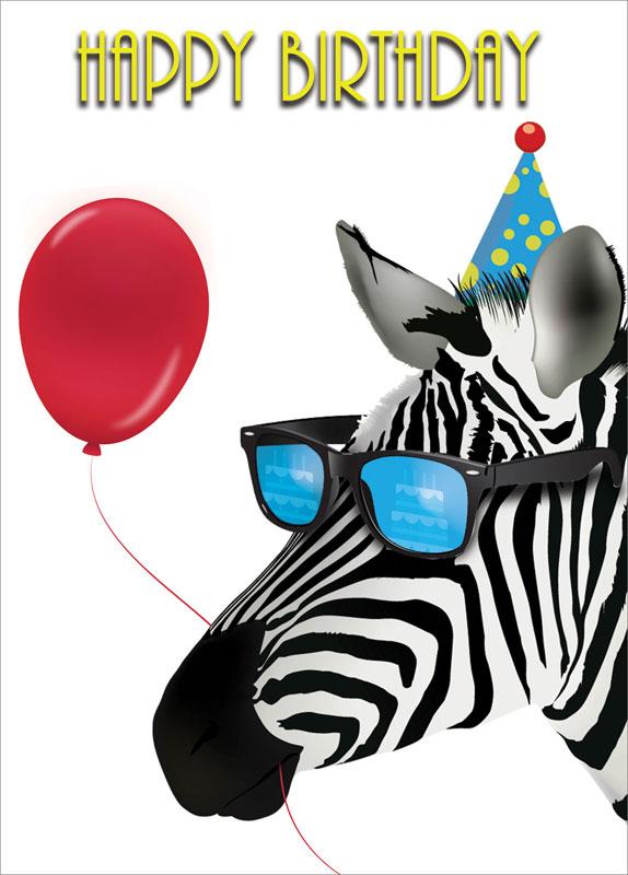 Portfolio - Zebra - Birthday Card #D312