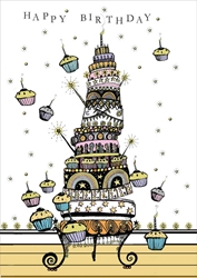Tower Cakes - Birthday Card