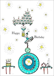 Cake Stand - Birthday Card