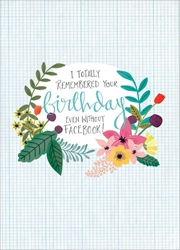 Remembered - Birthday Card