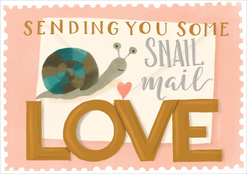 Snail Mail - Friendship Card
