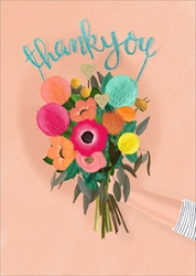 Bouquet - Thank You Card