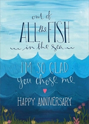 Fish / Sea - Anniversary Card