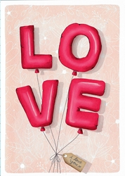 Love Balloons - Love Card