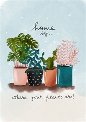 Plants - New Home Card