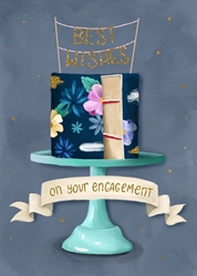 Cake - Engagement Card