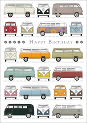 VW Bus - Birthday Card Birthday