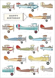 Airplanes - Birthday Card