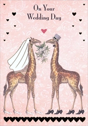 Giraffe Wedding Day - Wedding Card Wedding