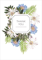 Blue and White Flowers - Thank You Card