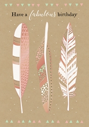 Feathers - Birthday Card