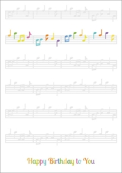 Music Notes - Birthday Card