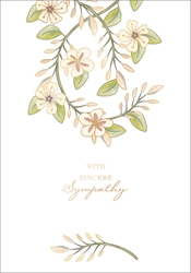 Vine and Flowers - Sympathy Card