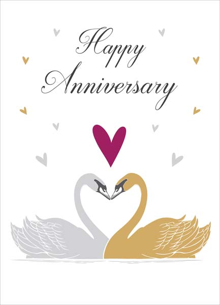Swans - Anniversary Card