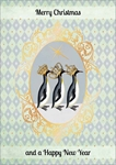 Three Wise Penguins - Christmas Card Christmas