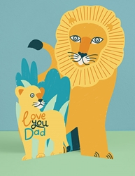 3D Lion - Fathers Day Card